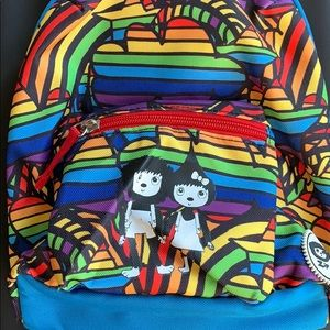 Rainbow backpack with safety leash